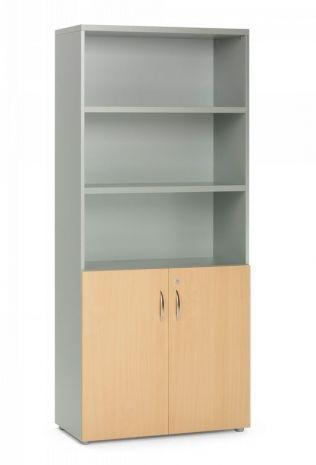 estantera de 2 puertas bajas 90 x 40 202 cm mobiliario oficina armarios estanterias solicar didcticos - Estanterias Bajas