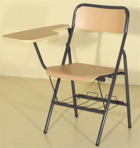 Silla plegable brazo pala diestros mobiliario escolar for Mesa plegable sillas incorporadas